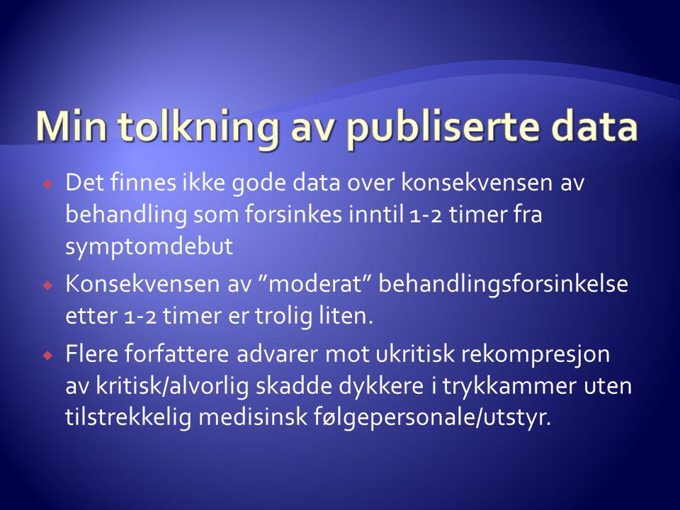 Min tolkning av publiserte data