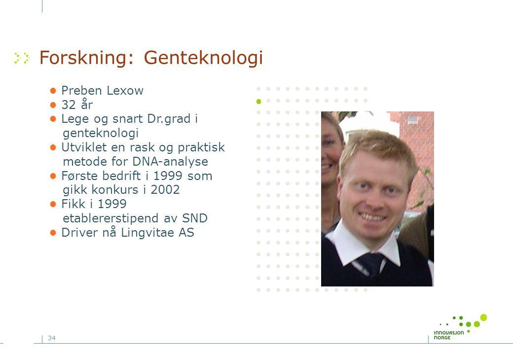 Forskning: Genteknologi