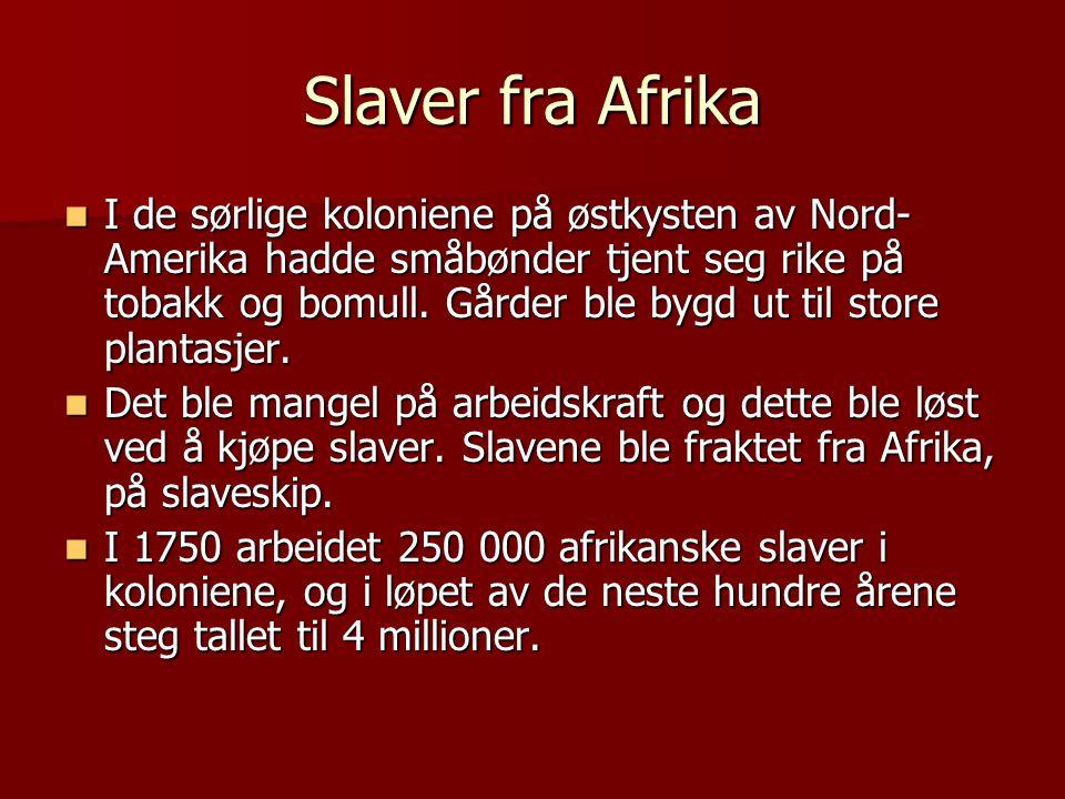 Slaver fra Afrika