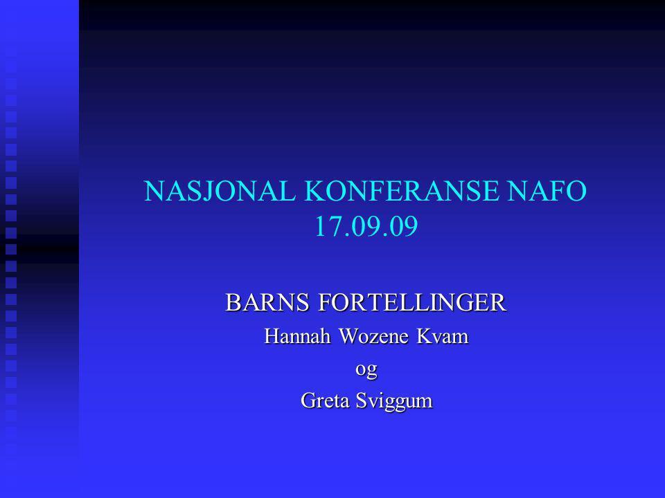 NASJONAL KONFERANSE NAFO 17.09.09