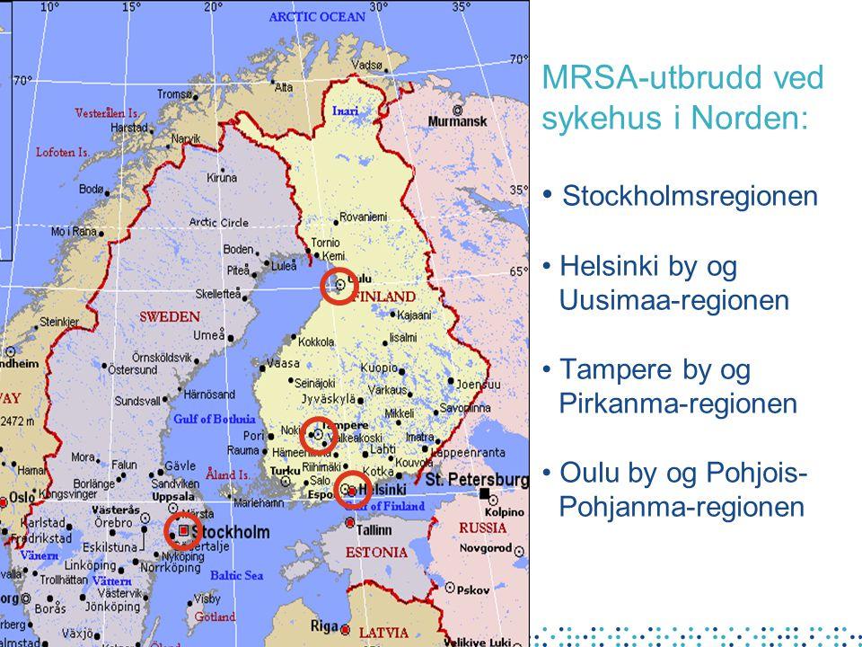 MRSA-utbrudd ved sykehus i Norden: