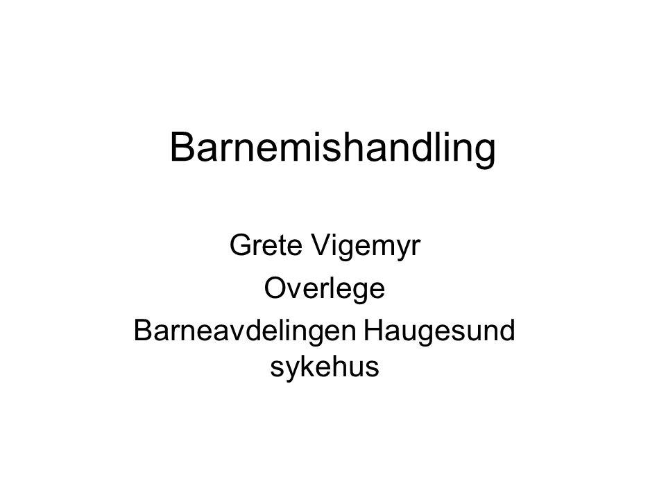 Grete Vigemyr Overlege Barneavdelingen Haugesund sykehus