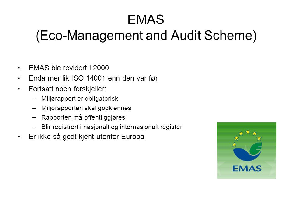 EMAS (Eco-Management and Audit Scheme)