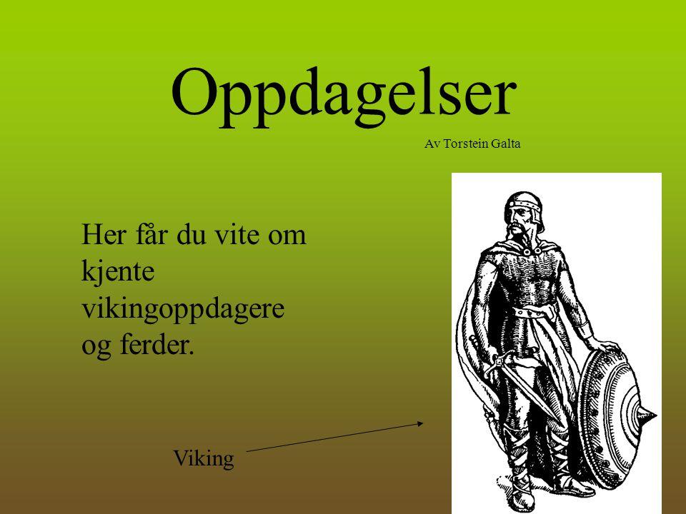 Oppdagelser Her får du vite om kjente vikingoppdagere og ferder.