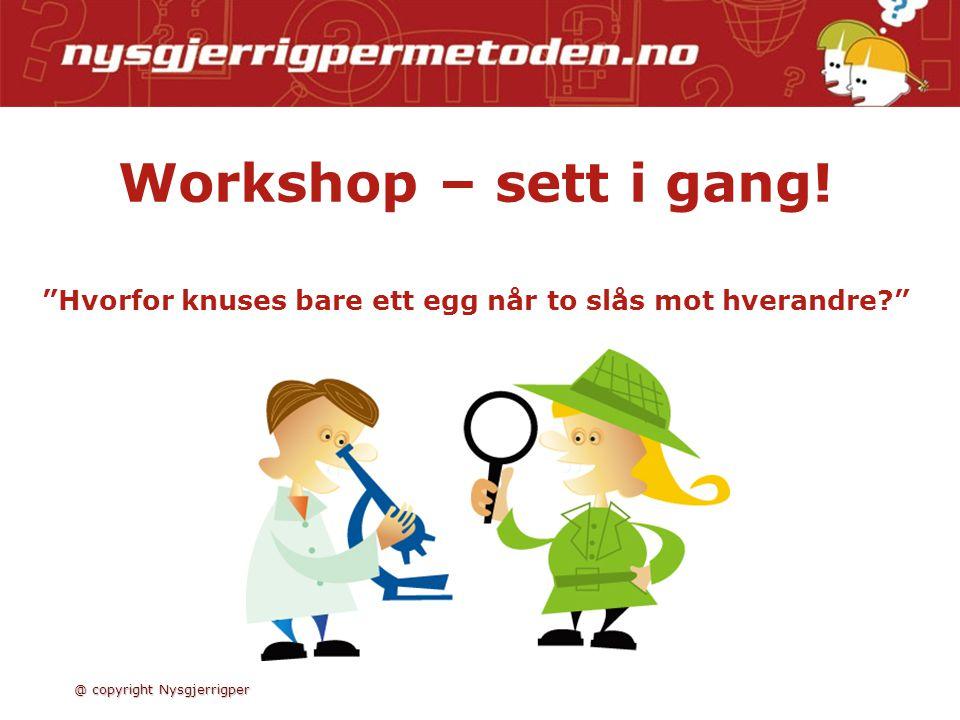 Workshop – sett i gang! Hvorfor knuses bare ett egg når to slås mot hverandre
