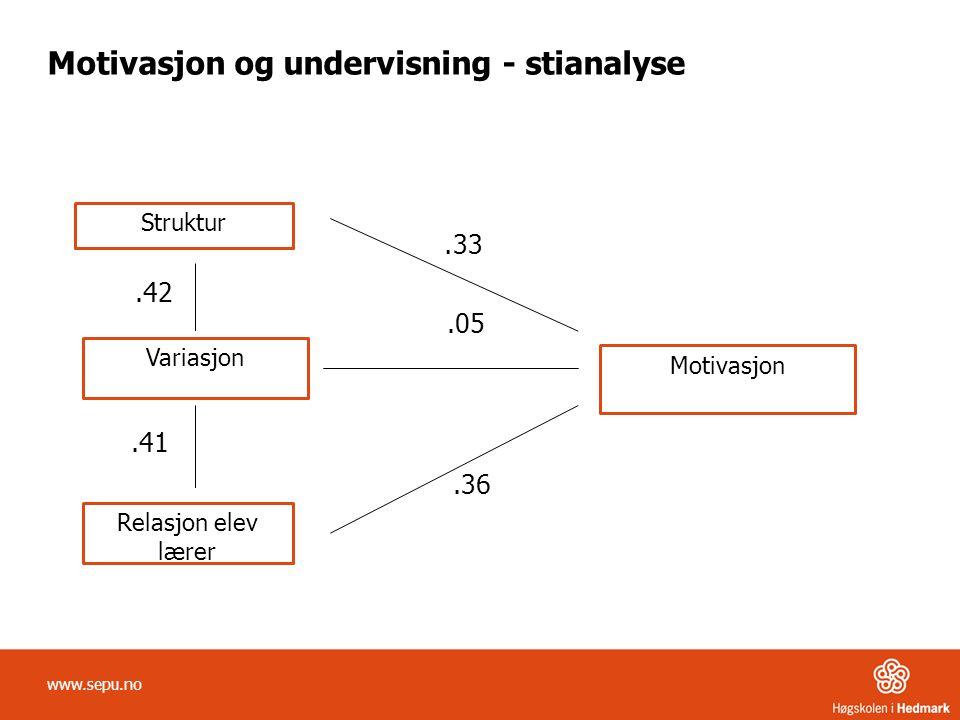 Motivasjon og undervisning - stianalyse