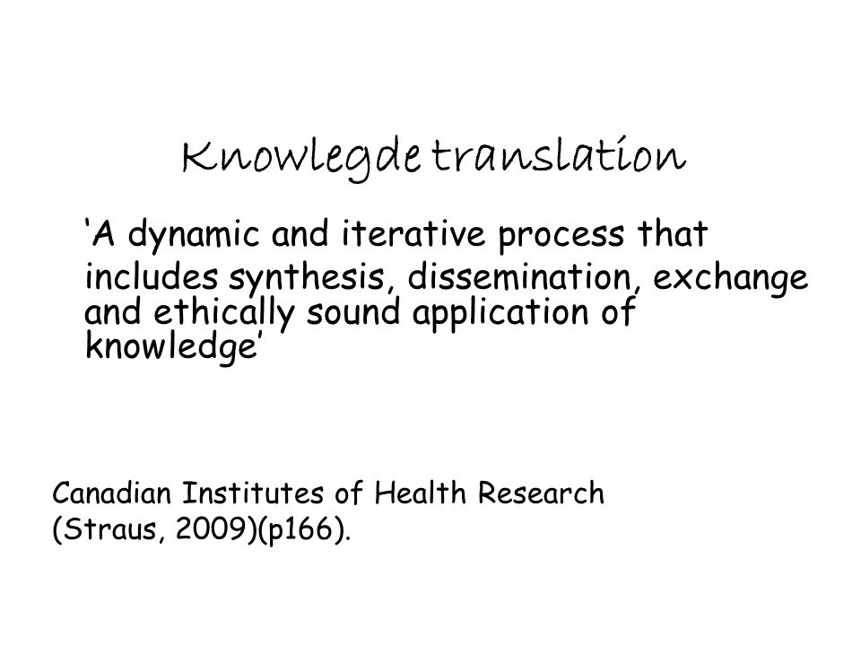 Knowlegde translation