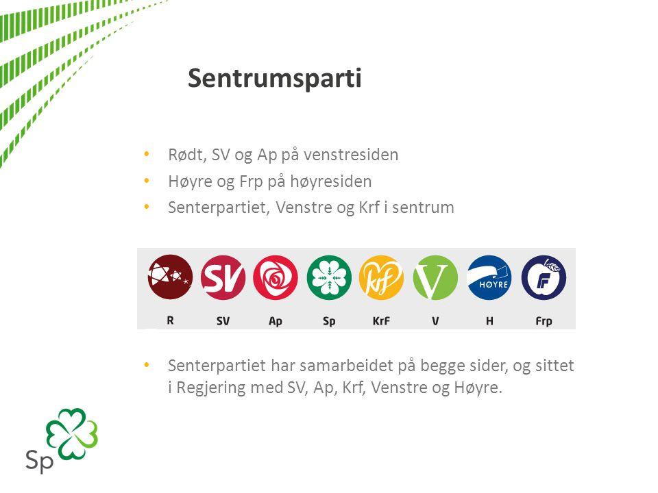 Sentrumsparti Rødt, SV og Ap på venstresiden