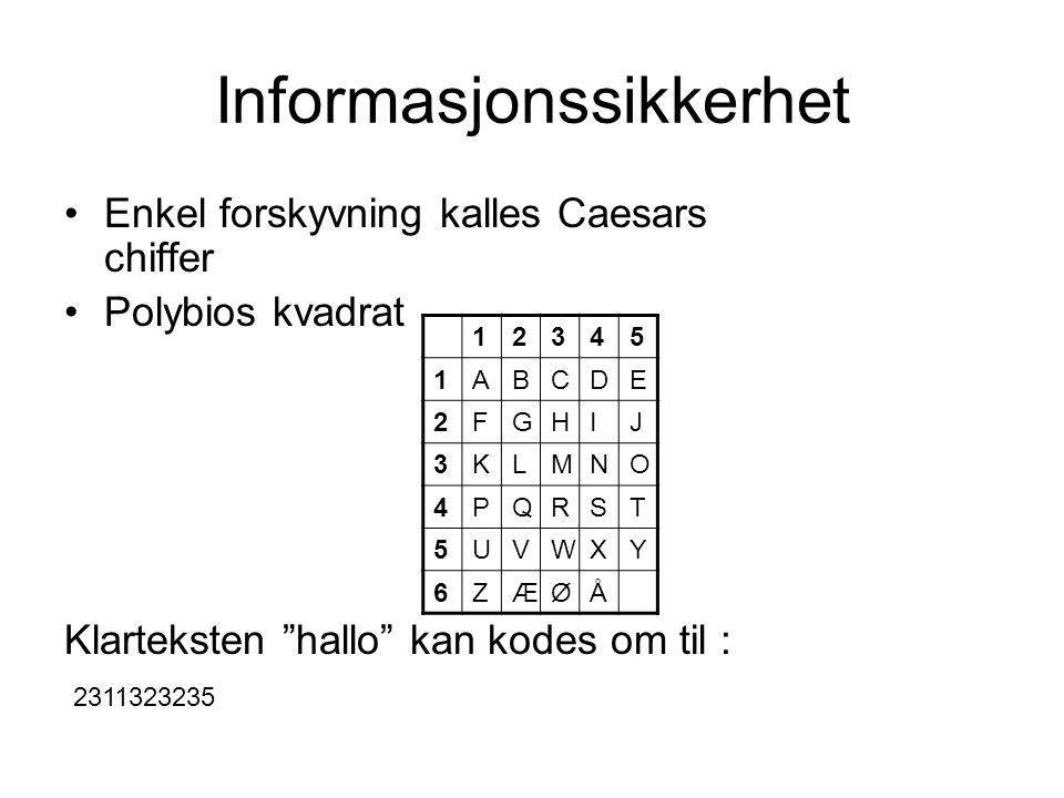 Informasjonssikkerhet