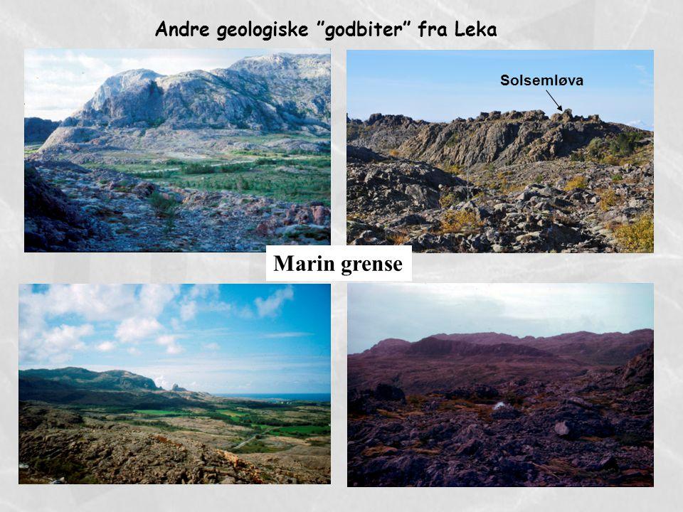 Andre geologiske godbiter fra Leka