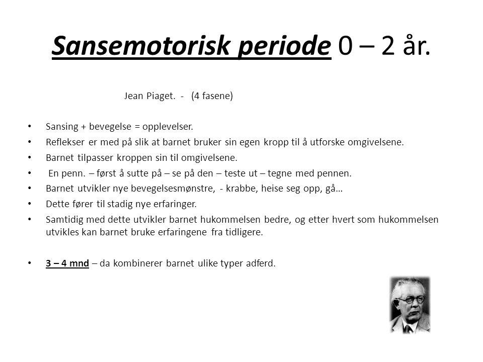 Sansemotorisk periode 0 – 2 år.