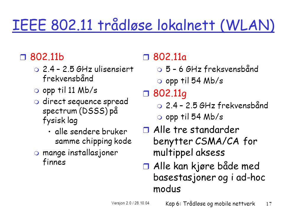 IEEE 802.11 trådløse lokalnett (WLAN)