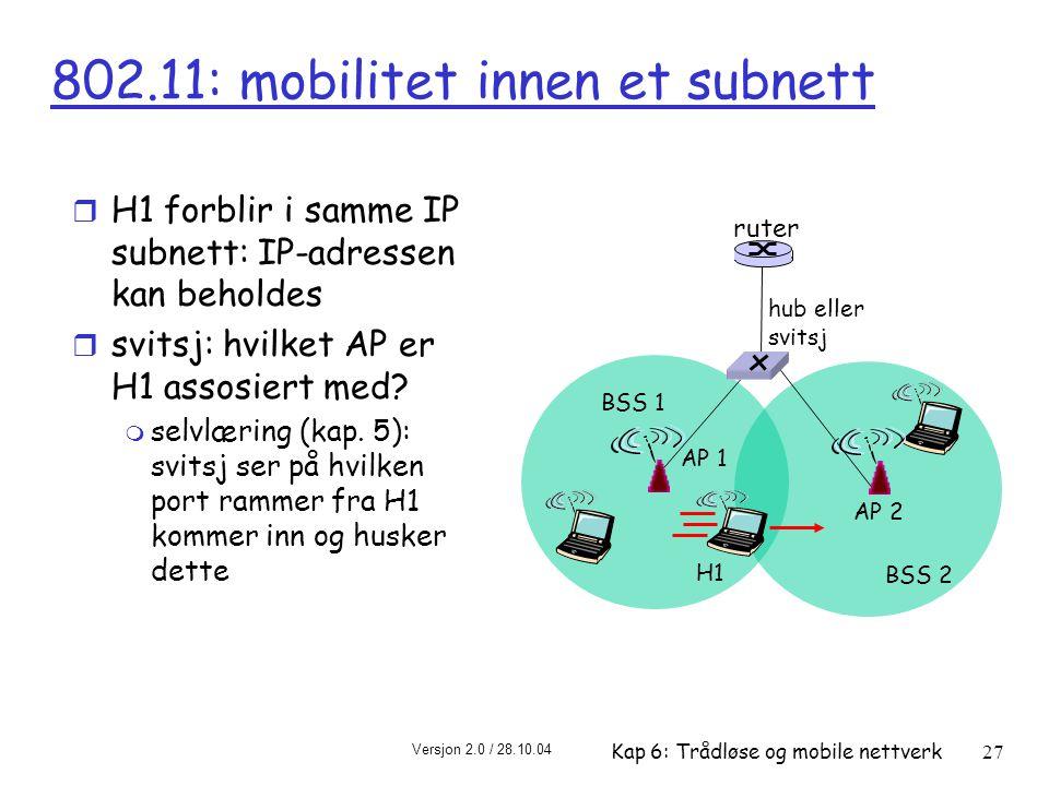 802.11: mobilitet innen et subnett