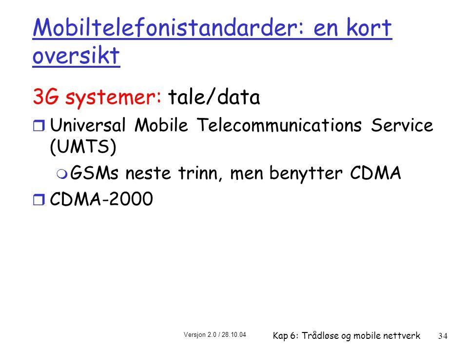 Mobiltelefonistandarder: en kort oversikt