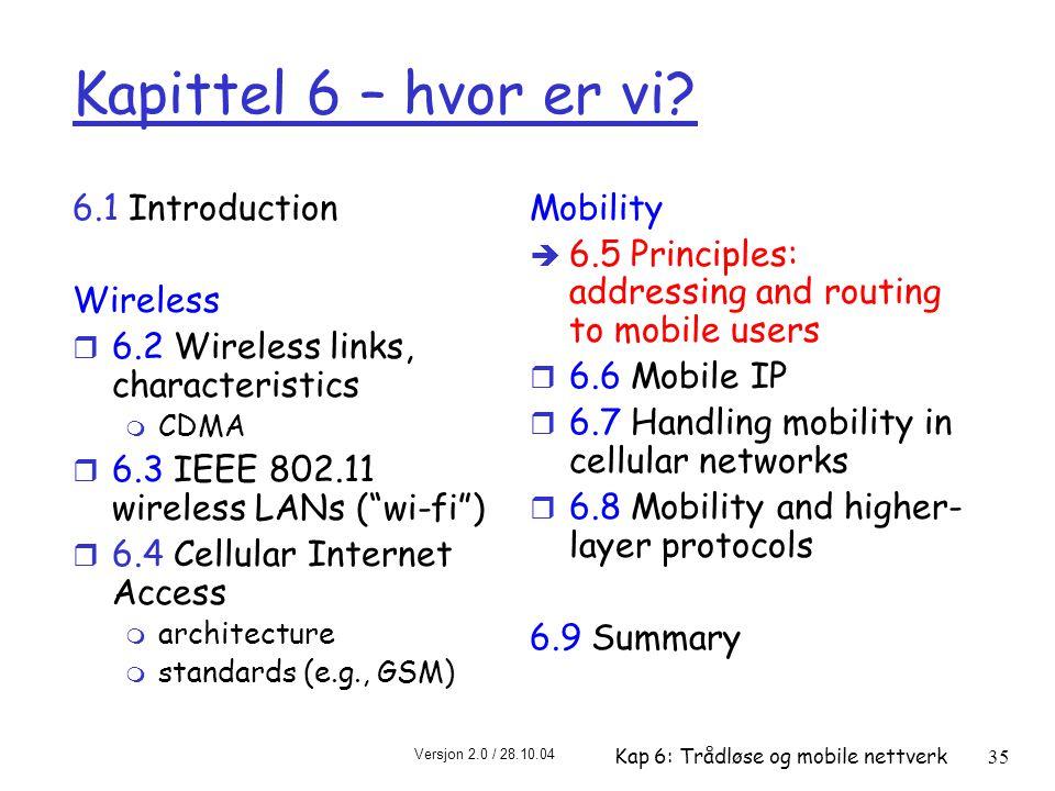 Kapittel 6 – hvor er vi 6.1 Introduction Wireless