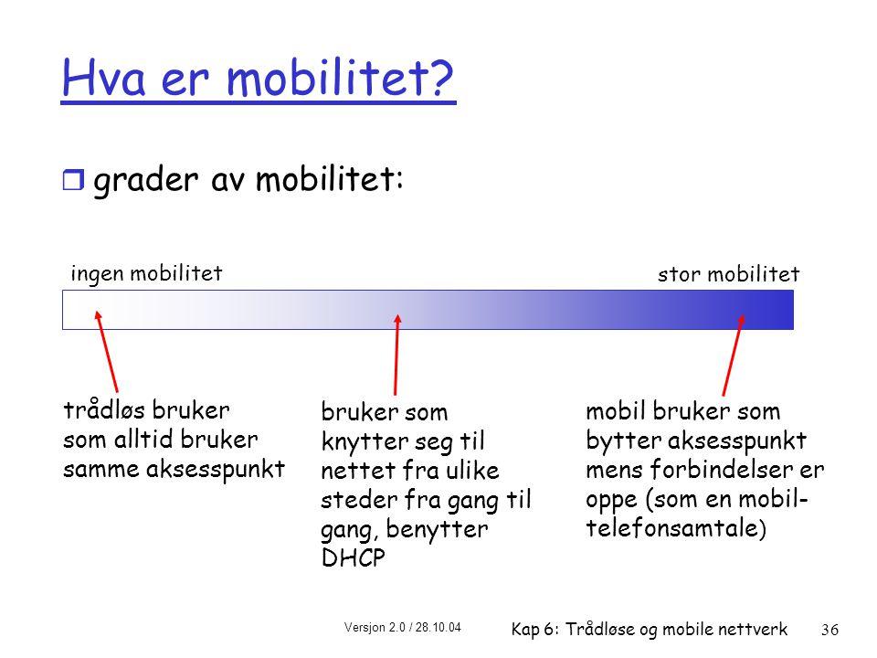Hva er mobilitet grader av mobilitet: trådløs bruker