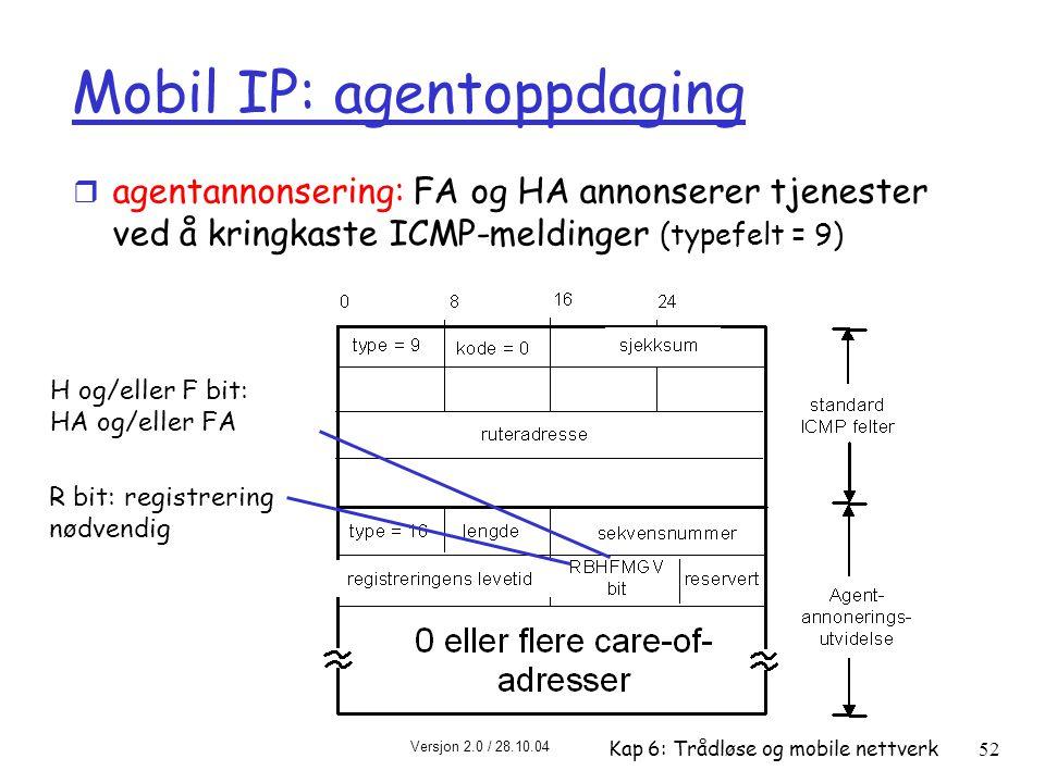 Mobil IP: agentoppdaging