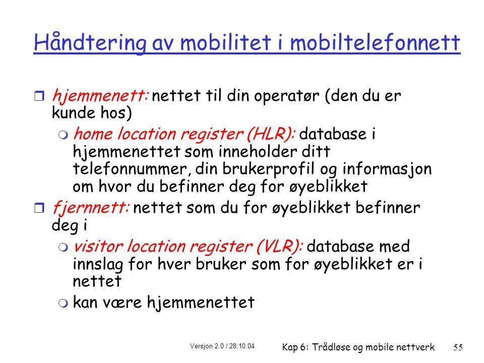 Håndtering av mobilitet i mobiltelefonnett