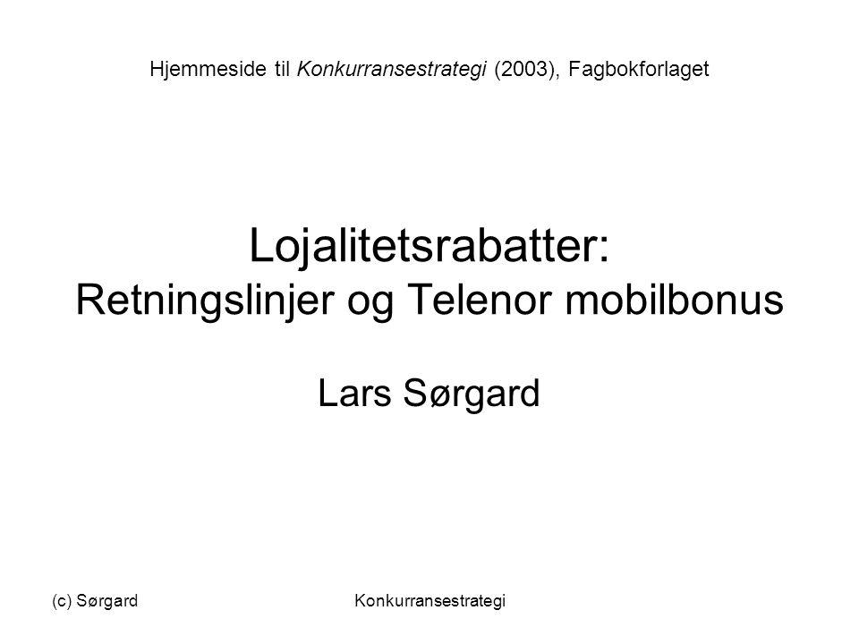 Lojalitetsrabatter: Retningslinjer og Telenor mobilbonus