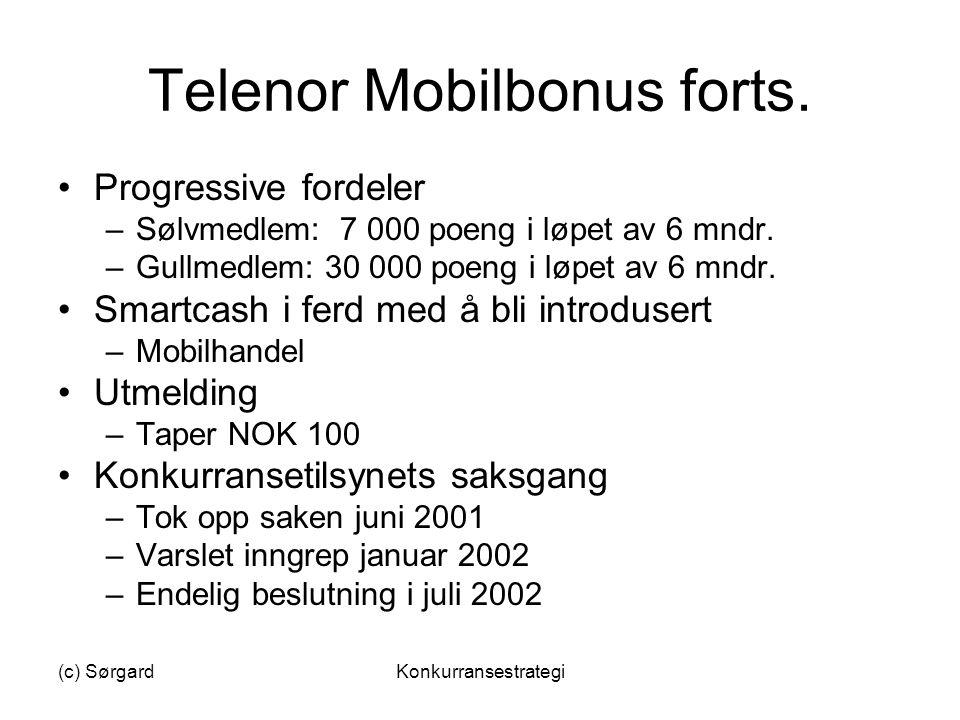 Telenor Mobilbonus forts.