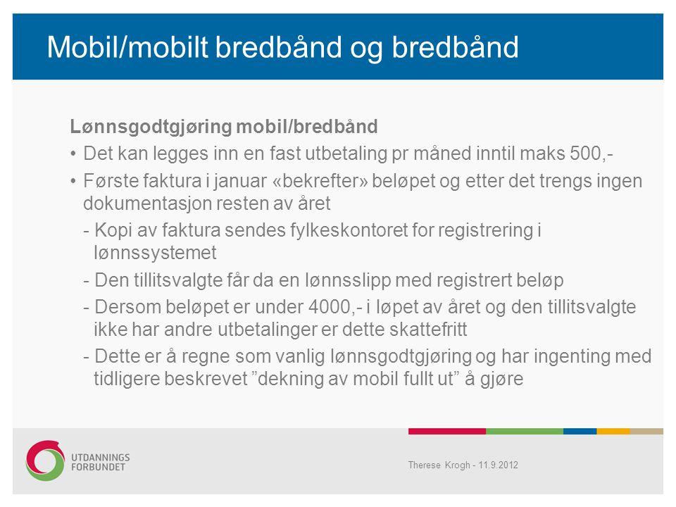 Mobil/mobilt bredbånd og bredbånd