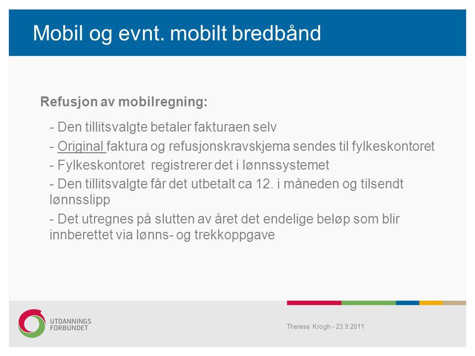Mobil og evnt. mobilt bredbånd