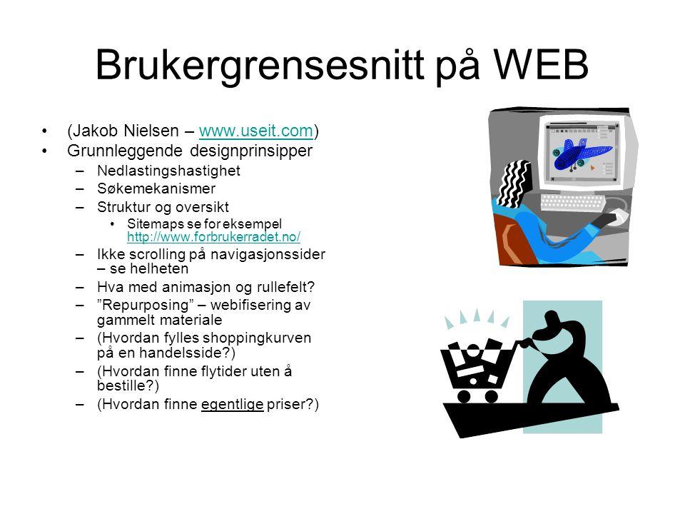 Brukergrensesnitt på WEB