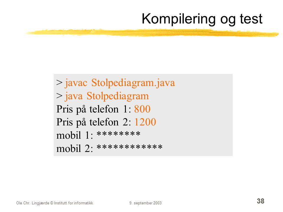 Kompilering og test > javac Stolpediagram.java