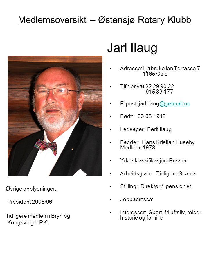 Medlemsoversikt – Østensjø Rotary Klubb Jarl Ilaug