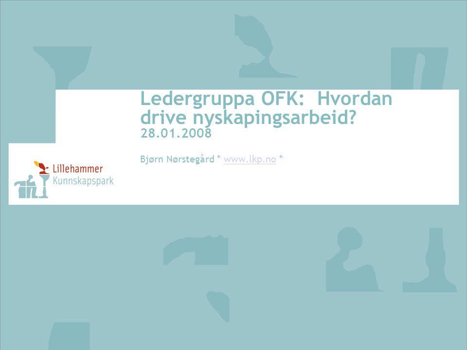 Ledergruppa OFK: Hvordan drive nyskapingsarbeid 28.01.2008