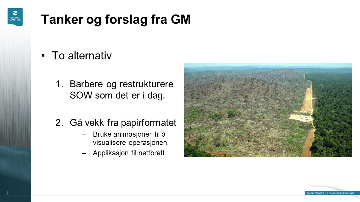 Tanker og forslag fra GM