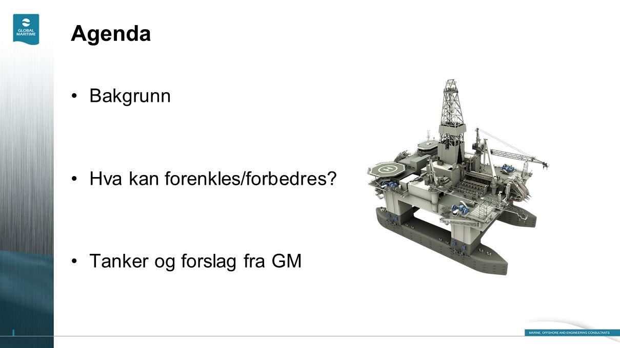Agenda Bakgrunn Hva kan forenkles/forbedres Tanker og forslag fra GM