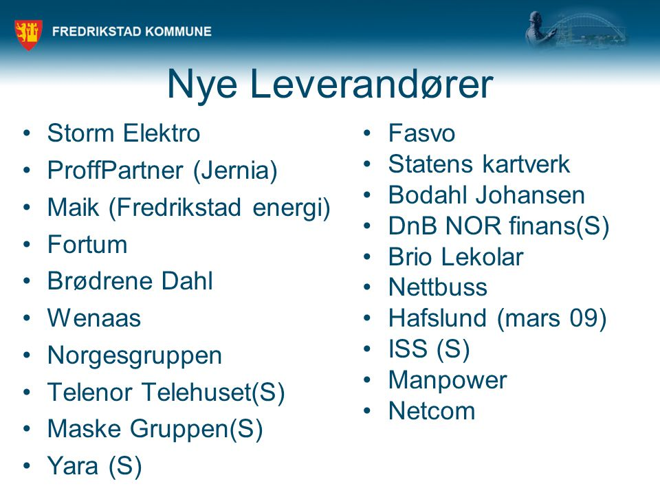Nye Leverandører Storm Elektro ProffPartner (Jernia)