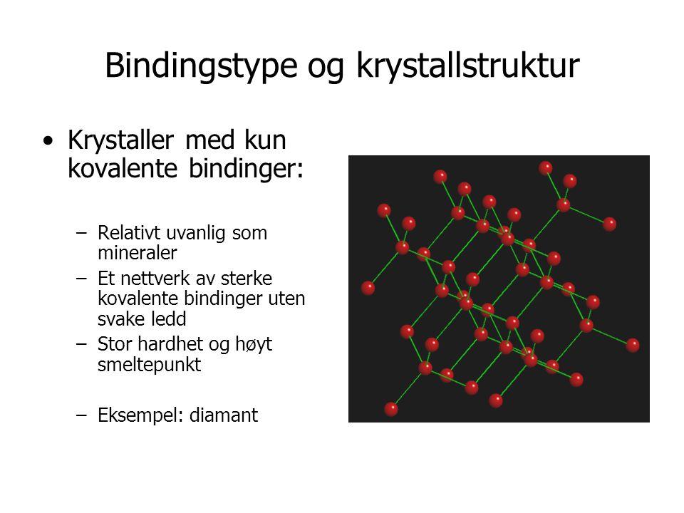 Bindingstype og krystallstruktur