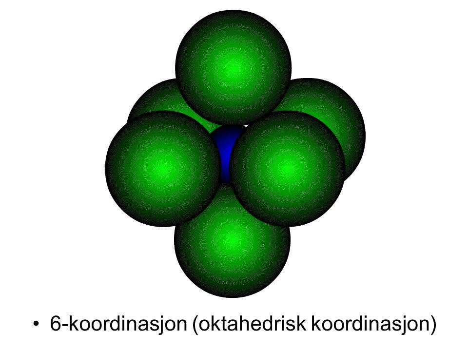 6-koordinasjon (oktahedrisk koordinasjon)