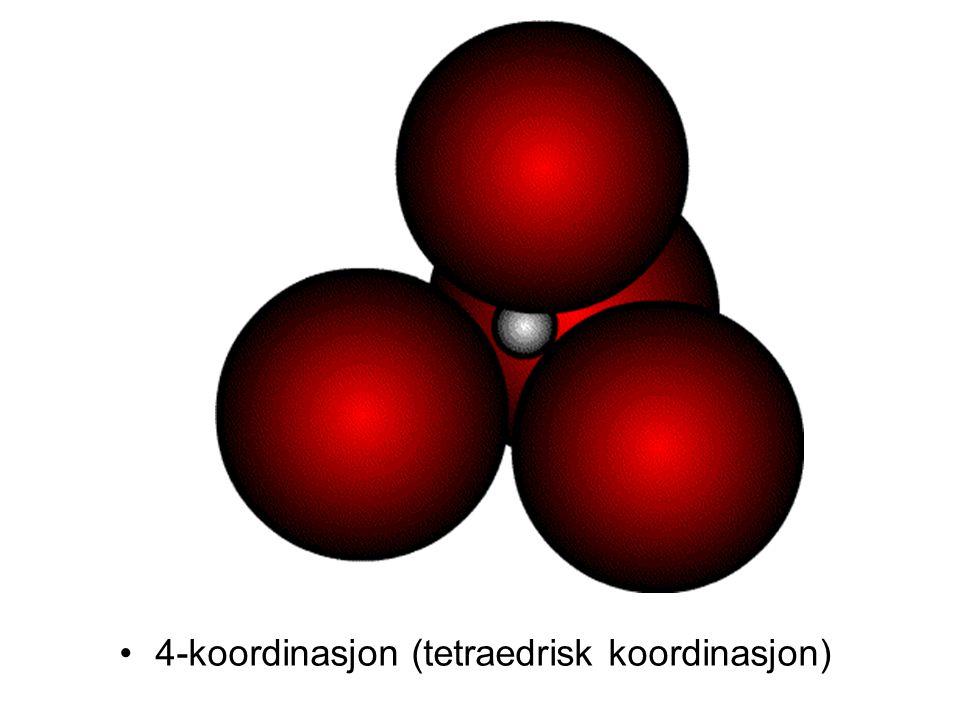 4-koordinasjon (tetraedrisk koordinasjon)