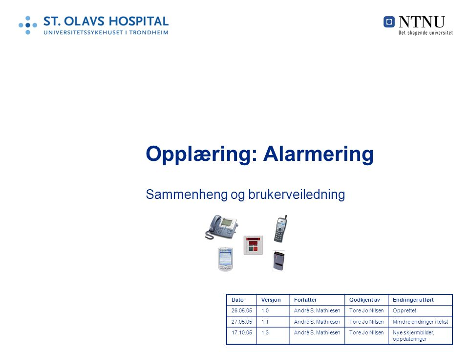 Opplæring: Alarmering