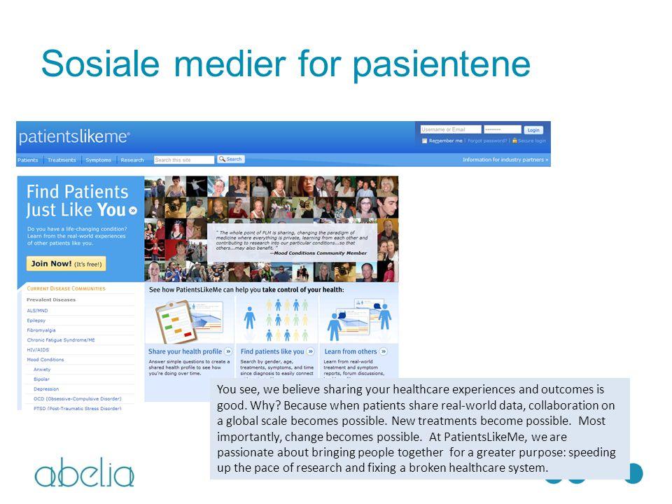 Sosiale medier for pasientene