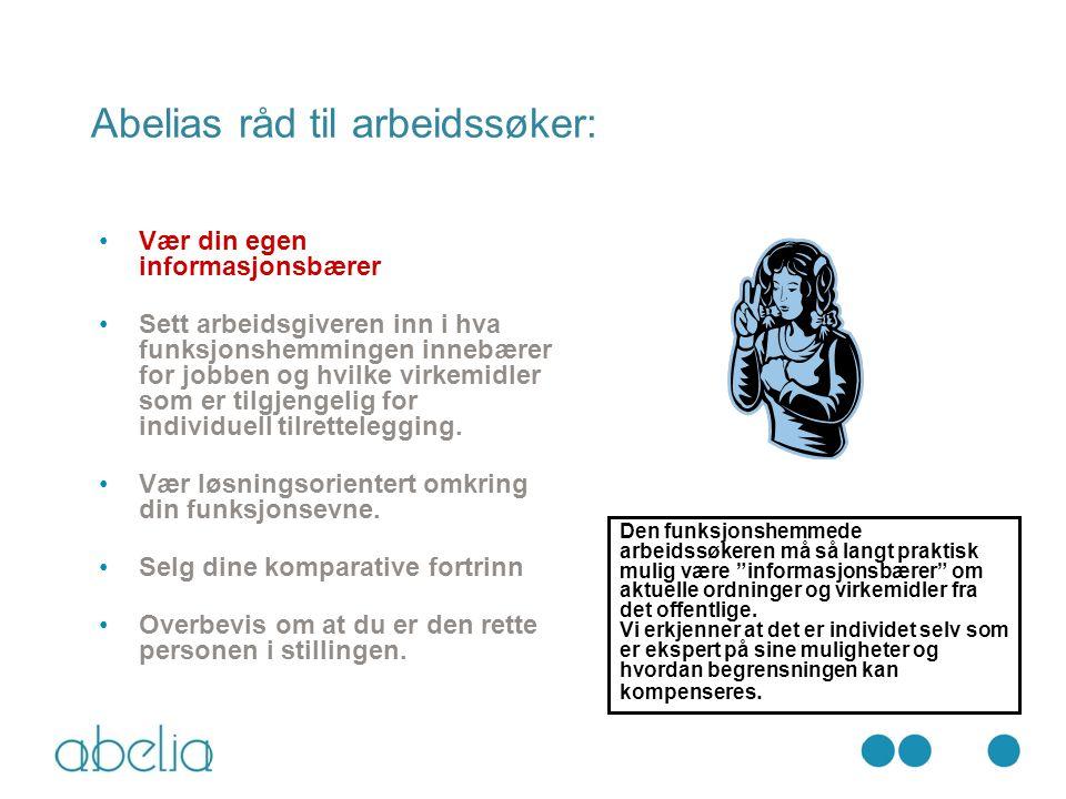 Abelias råd til arbeidssøker: