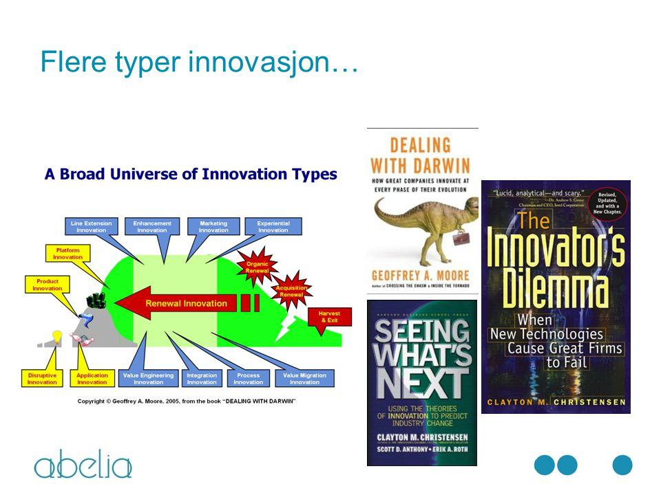 Flere typer innovasjon…