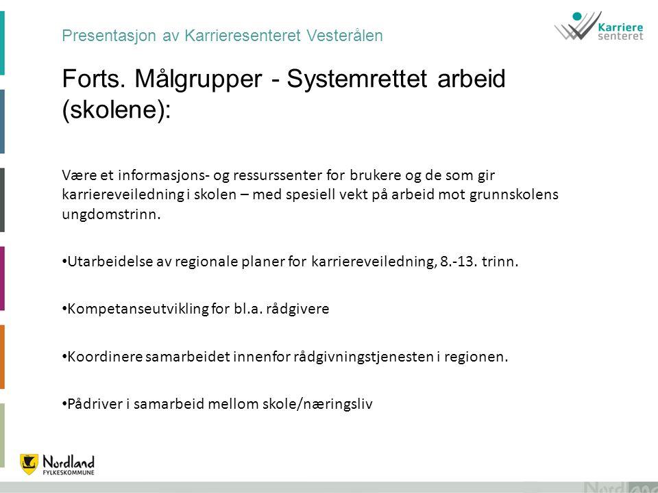 Presentasjon av Karrieresenteret Vesterålen