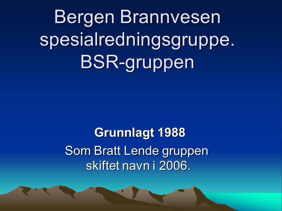 Bergen Brannvesen spesialredningsgruppe. BSR-gruppen