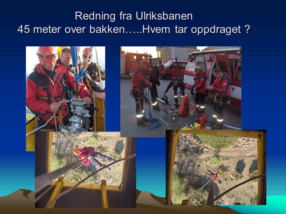 Redning fra Ulriksbanen 45 meter over bakken…..Hvem tar oppdraget