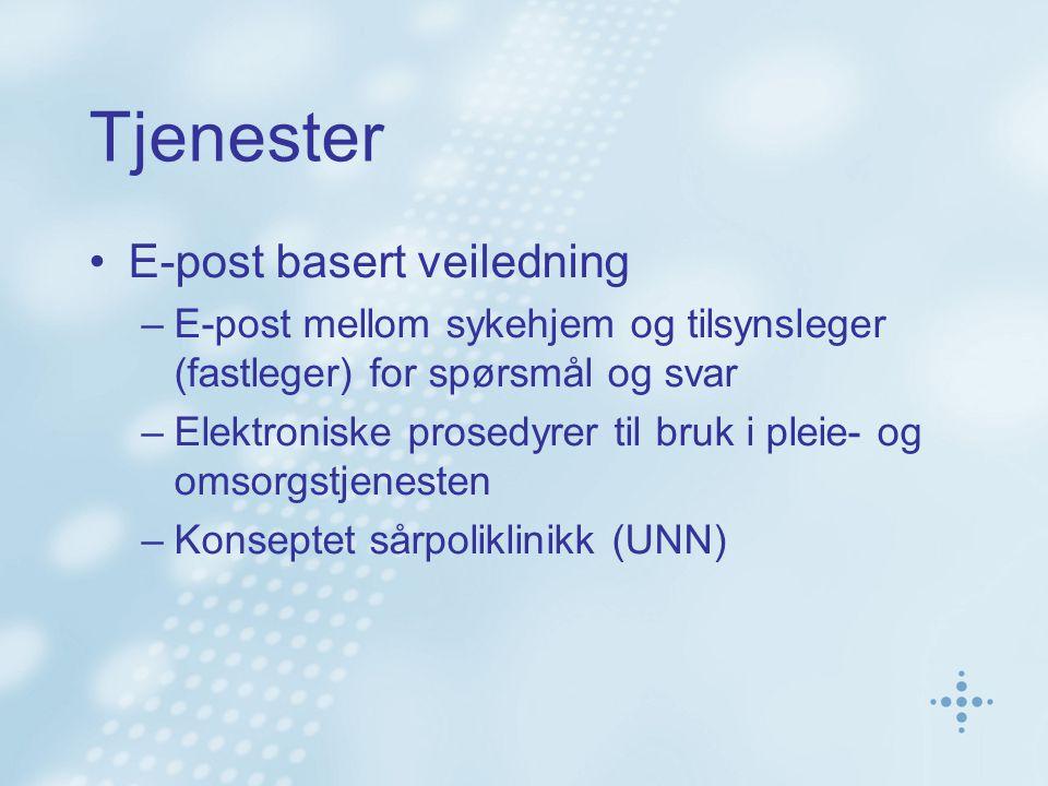 Tjenester E-post basert veiledning