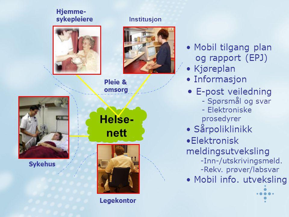 Helse- nett E-post veiledning Mobil tilgang plan og rapport (EPJ)