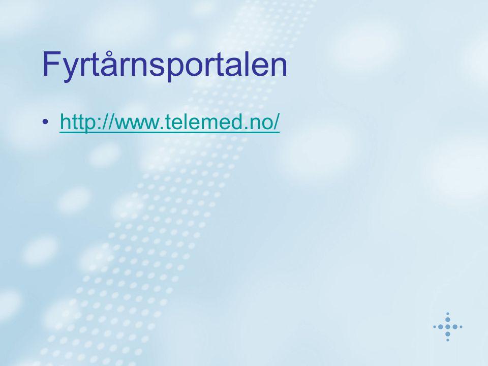 Fyrtårnsportalen http://www.telemed.no/