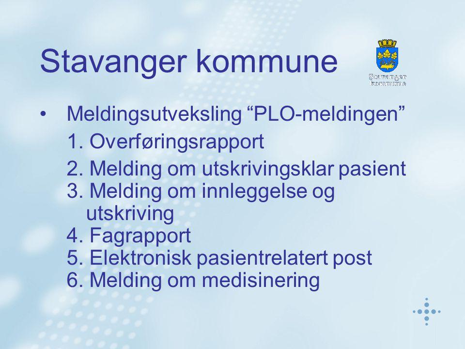 Stavanger kommune Meldingsutveksling PLO-meldingen