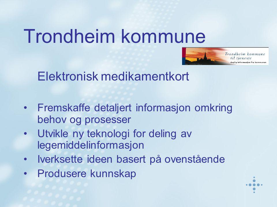 Trondheim kommune Elektronisk medikamentkort
