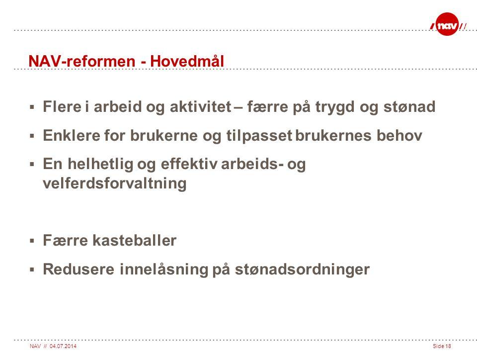 NAV-reformen - Hovedmål
