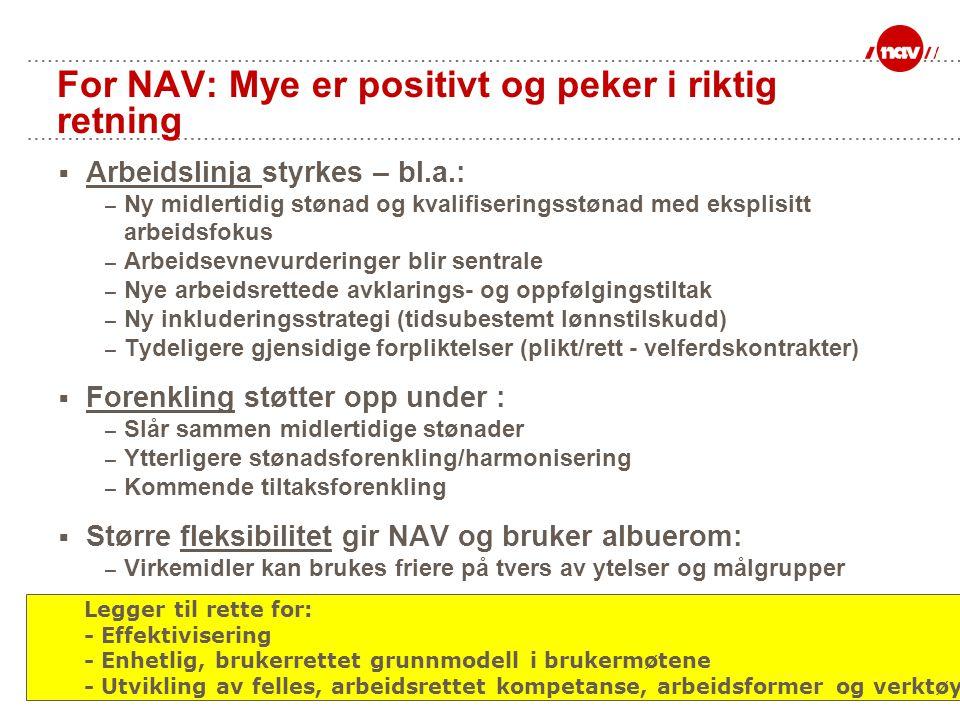 For NAV: Mye er positivt og peker i riktig retning